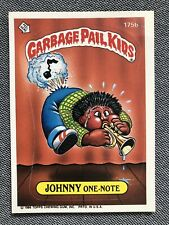 Johnny One-Note # 175b Garbage Pail Kid Trading Card, 1986