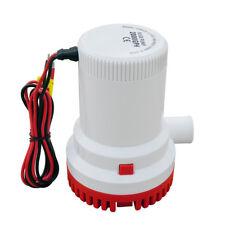 12V 2000 GPH Electric Submersible Bilge Water Pump for Caravan Sailing Fishing
