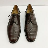 Bally Mens Dress Shoe US Size 10 Brown Style Flex Wingtip Made In Italy