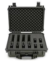 """CM Padded Gun Storage 16"""" Waterproof Hand Gun Case for Handguns Pistol Safe"""