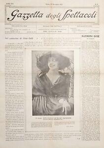 Gazzetta degli Spettacoli N. 6 - Dina Galli - 1922