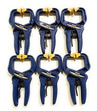 6 New IRWIN Quick-Grip Handi-Clamps  Quick Release-  Free Shipping
