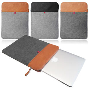 Felt Leather Travel Case Cover Sleeve for ALL Apple MacBook Pro, & Air Models