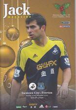 Swansea V Everton 2013/14 programa Mint