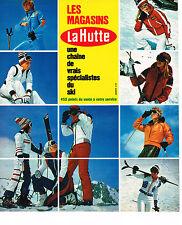 PUBLICITE ADVERTISING 054  1973  LA HUTTE  vetements & équipements de ski
