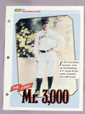 CAP ANSON GREAT MOMENTS IN SPORTS  - SPORTS HEROES SHEET CARD