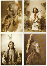 LOT 18 CARTES INDIENS POSTALES  GERONIMO SITTING BULL TIPI CHEYENNES CROW SIOUX