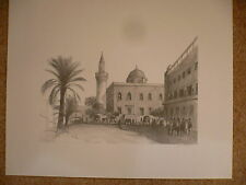 Amin Marghani. Libyan Lithographs. (10 of them).Signed. (Limited Edition)
