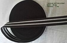 35mm REINFORCED Canvas Cotton Webbing Belt Fabric Strap Tape Spl design x 1 yard