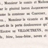 Joseph Eugène De Villoutreys De Brignac Paris 1857