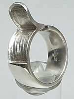 massiver 925 Silber Ring Emporio Armani punziert/signiert  RG 58/18,4 mm - A 565