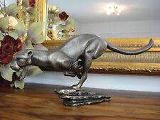 Skulptur Gepard Leopard Jaguar Panther Puma Tiger Löwe Eisen Guss Figur Statue