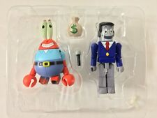 MiniMates Spongebob 2-Pack MR. KRABS & PERKINS Diamond Select Toys New Loose