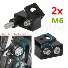 2x M6 Bolt CNC Motorcycle LED Head Fog Light Mounting Bracket Post Support Base