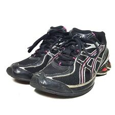 Asics Gel Frantic 4 Black Runnng Shoes Womens Size 8 M T9C7N