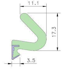 AQUAMAC 89 Draught Strip Seal - 89W White (5mm - 13mm) 2.1m