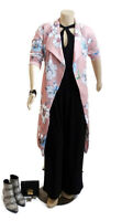LORRAINE Pink Long Sleeve Duster/ Kimono Coat With Attached Belt | Size: 18