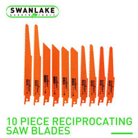 "10PC Reciprocating Air Saw Blades 6"" 8"" Bi-Metal Wood Power Tool Accessories"