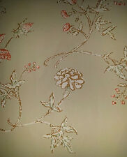 Vintage Wallpaper Floral Green French Country by Motif