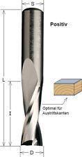 VHM Fräser positiv 3 x 60 x 12  Z 2  für Handoberfräse Schaft 6 mm, CMT