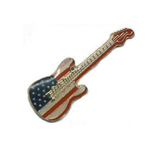 Wholesale Lot of 12 Guitar Lapel Hat Cap Pins American Flag Pin Fast Usa Shipper