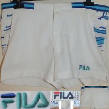 FILA BORIS BECKER Era Vintage 90s Panta Tennis Short Glanz Hose 48 Made in Italy