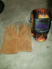 Welding Helmet and gloves