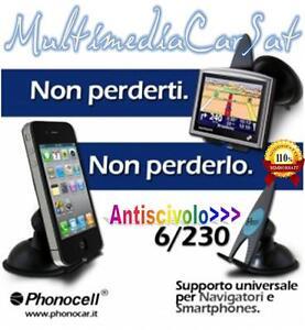 Supporto NONOTECNOLOGICO Universale Cellulari Palmari Navigatori Iphone Ventosa