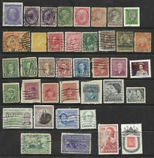 COLLECTION OF 39 USED CANADA STAMPS