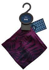 Moss Bros Pocket Square 100% Silk Handkerchief Purple Floral Print Brand New