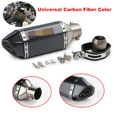 Carbon Fiber Look Motorcycle Exhaust Muffler Pipe DB Killer Short for 51mm