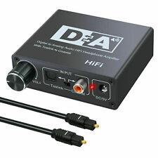 Convertidor de audio digital a analógico Coaxial Toslink Optical RCA 3.5mm Jack