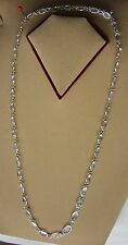 Sterling Silver White Moonstone Single Link Necklace from Sri Lanka (19N5) (NEW)