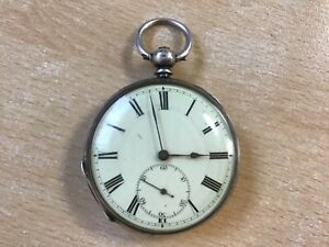 Antique Solid Fine Silver Baume & Co, Swiss Pocket Watch
