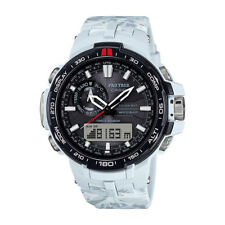 Casio White Mens Analog-Digital Sport Pro Trek Tough Solar PRW-6000SC-7D