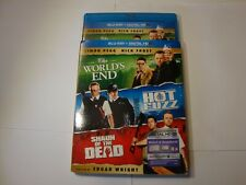 Shaun of the Dead/Hot Fuzz/The Worlds End w/Slip(Blu-ray Disc, 2013, 3-Disc Set)