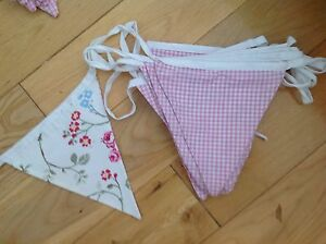Clarke and clarke bird trail pink high quality hand made bunting wedding vintage