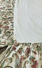 Ralph Lauren Anitgua Paisley & Floral Print Bed Skirt Multi color Full/Queen