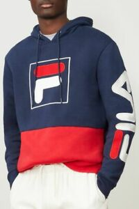 Fila Men's Color-Blocked Tony Pullover Hoodie- Large NWT!