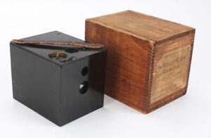 BOSTON CAMERA BULLS-EYE EBONITE MODEL, IN ORIGINAL WOODEN BOX/cks/198592