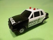 CHINA MC TOY FORD ESCORT 1.6i - POLICE K9 - WHITE + BLACK 1:64? - GOOD CONDITION