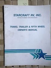 StarCraft Travel Trailer Fifth Wheel Owners Manual Vintage 1990s Americana 30