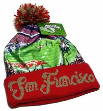 San Francisco New LOG Stadium Beanie Toque Pom Red 49ers Cuffed Era Hat Cap