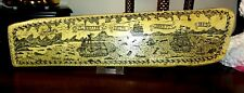 """Fabulous Replica Scrimshaw from 1842 w/ Gorgeous Whaling Scenes 17"""" x 4"""""""