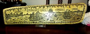 "Fabulous Replica Scrimshaw from 1842 w/ Gorgeous Whaling Scenes 17"" x 4"""