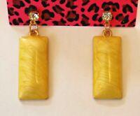 Betsey Johnson Crystal Rhinestone Enamel Geometric Post Earrings