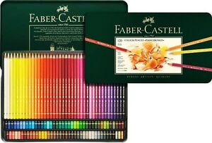 Crayons Faber-Castell Polychromos 120 couleurs 110011 dans la boîte métallique