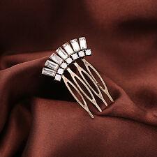 H73 Forever 21 Vintage Gatsby Hair Piece Gem Rustic Metal Wedding Bridal Comb UK