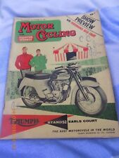 Motor Cycling/Show Preview issue/BSA B40 Test/Dave Bickers Greeves 250 Tested