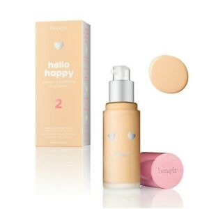 New Benefit Hello Happy Flawless Brightening Foundation Sample Pot 2ml Only